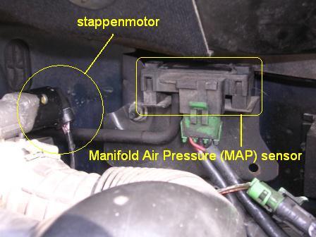 stappenmotor en MAP sensor